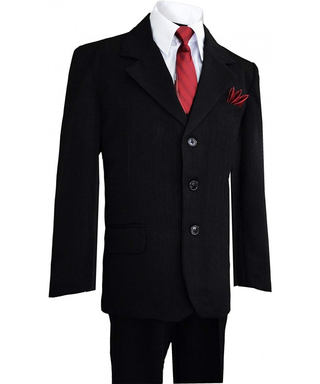 Boys Pinstripe Suit Matching Black