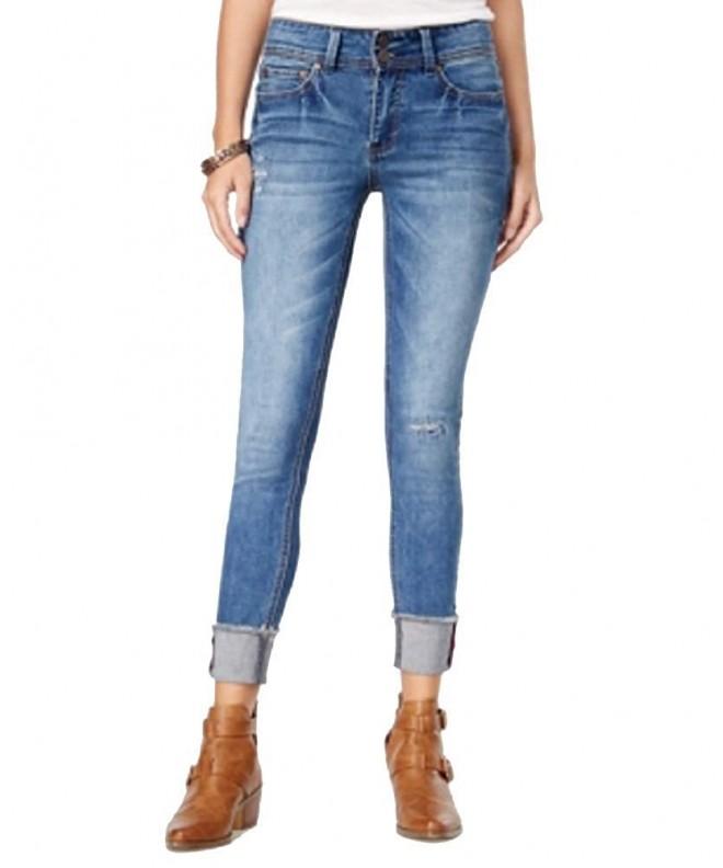 Indigo Juniors Ripped Skinny Jeans