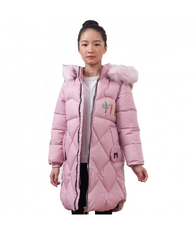 Keruishu Hooded Padded Coats Grils