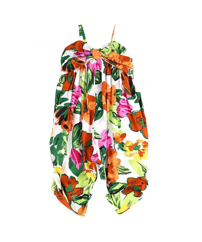 LELEFORKIDS Toddlers Jumpsuit Tropical Floral