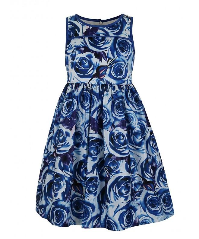 Emma Riley Girls Satin Floral