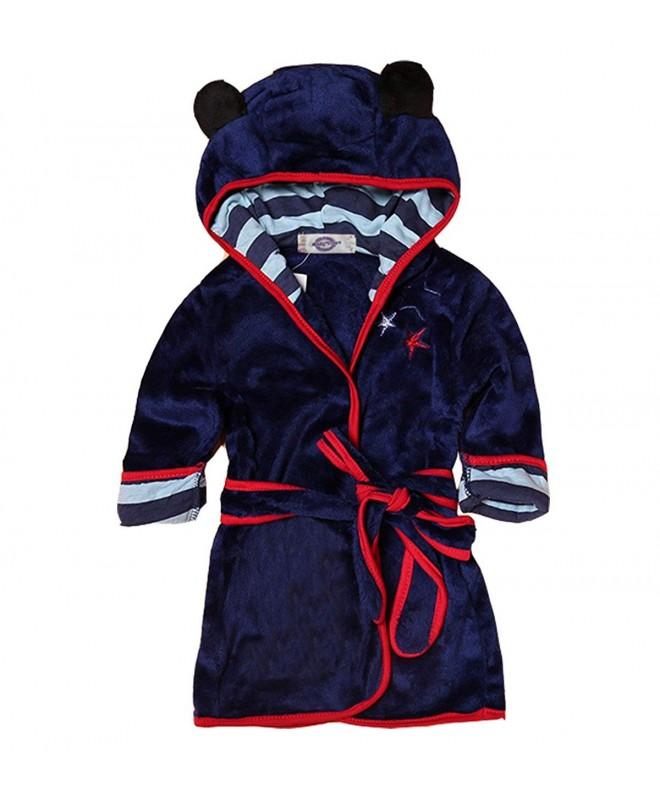 Cartoon Bathrobe Flannel Sleepwear Boys