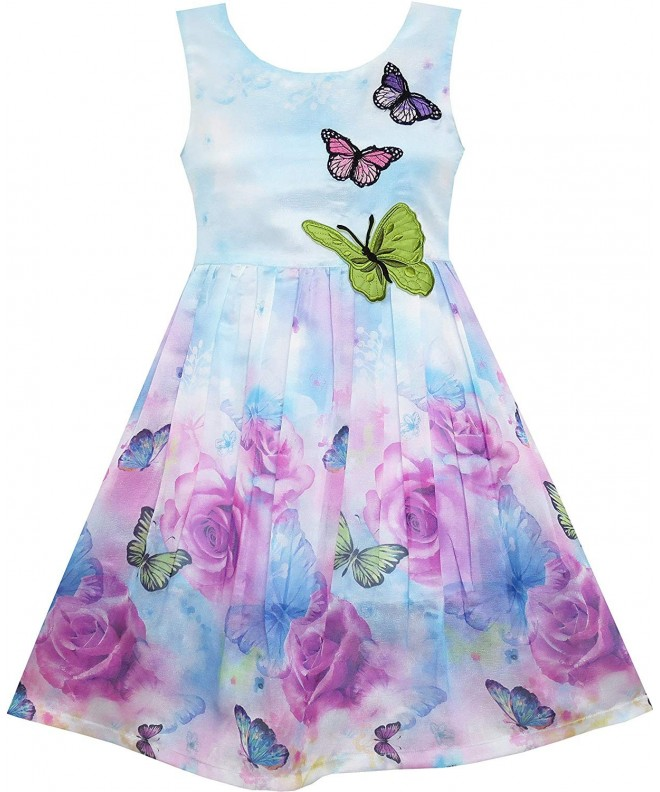 Sunny Fashion Flower Butterfly Embroidery